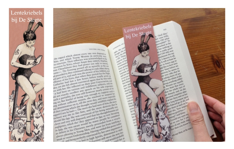 Spring themed bookmark for bookshop De Slegte