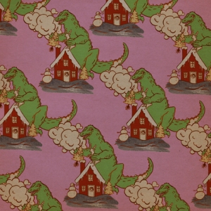 GODZILLA Fabric Design (pink)